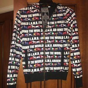 2008 RARE L.A.M.B. Around the world zipup hoodie s